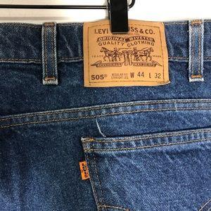 Vintage Levi's 505 orange tab 1980's straight leg